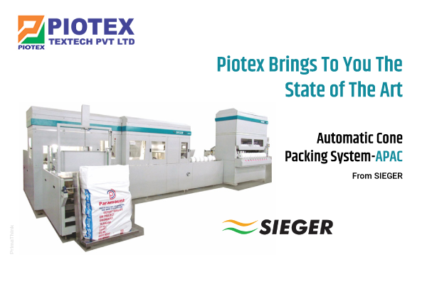 Piotex brings to you the state of the art Automatic Cone Packing System-APAC, from SIEGER.