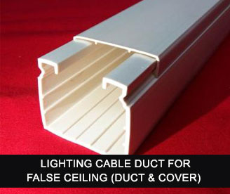 Lighting cable duct