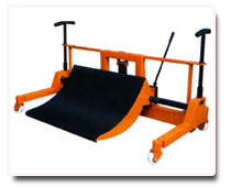 cradle-type-cloth-roll-droffing-trolley
